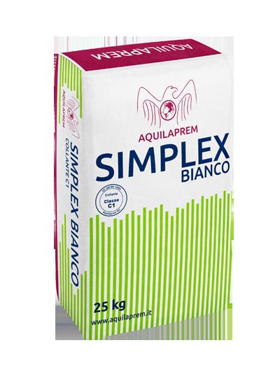 SIMPLEX BIANCO - ADESIVO C1